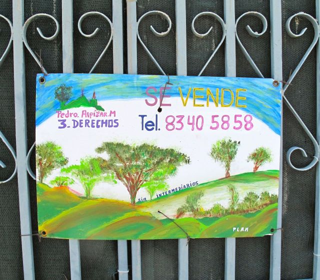 Hand done for sale sign