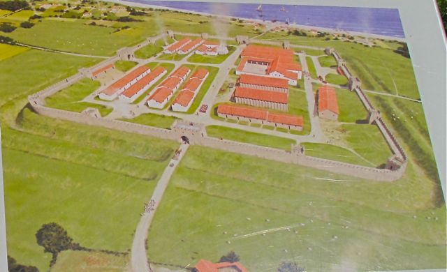 Graphic of Roman ruins at Reculver