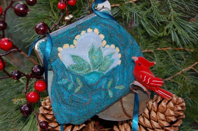 Fabric art evening bag, Phyllis Mercer