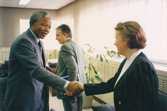 Nelson Mandela and Bob White