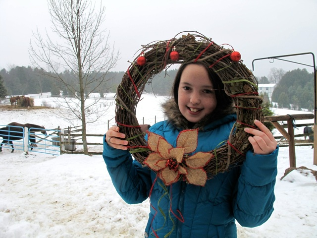 Peyton and wreath