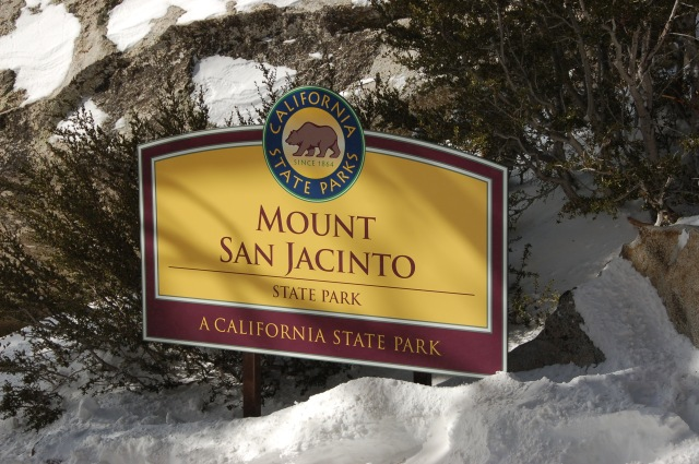 Mnt San Jacinto sign