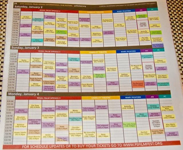 PSIFF schedule